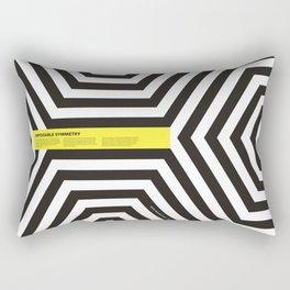 Impossible Symmetry - Cebra Rectangular Pillow