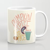 spice Mugs featuring Pumpkin Spice by Chelsea Herrick
