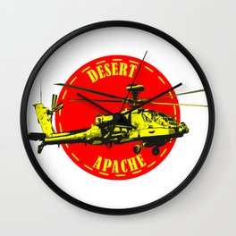 Apache Helicopter Wall Clock