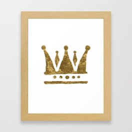 Golden Crown Framed Art Print