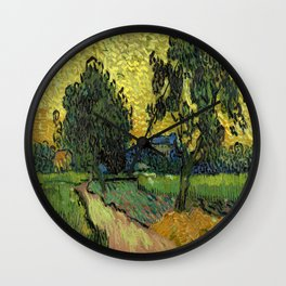 Vincent Van Gogh : Landscape at Twilight Wall Clock