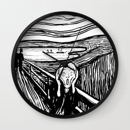 Edvard Munch The Scream 1895 Lithograph Reproduction Artwork for Prints Posters Tshirts Men Women Ki Wall Clock