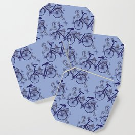 Bicycle and Floral Ornament Coaster