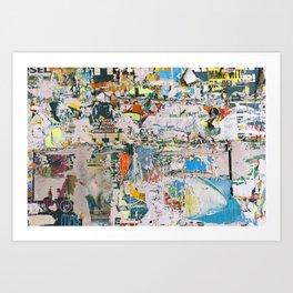 Street collage 1 Art Print