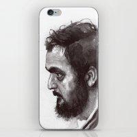 stanley kubrick iPhone & iPod Skins featuring Stanley Kubrick by Laurent Samani