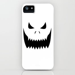 Scary Jack O'Lantern Face iPhone Case