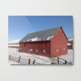 #406 bitterroot barn  Metal Print