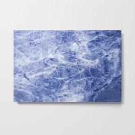 Deep blue sea marble texutre Metal Print
