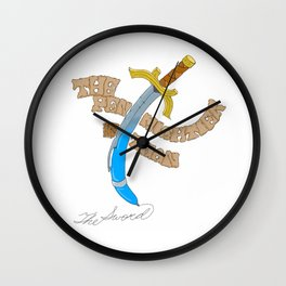 The Sword and the Pen Wall Clock
