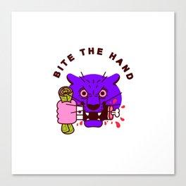 Bite the Hand Canvas Print