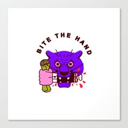 Bite the Hand Canvas Print
