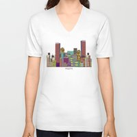hotline miami V-neck T-shirts featuring Miami by bri.buckley