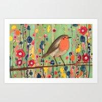 je ne suis pas qu'un oiseau revisited Art Print