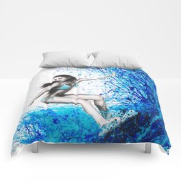 Thoughts and Waves Comforters