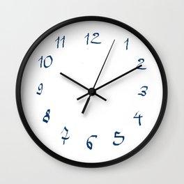 Chiffres bleus Wall Clock