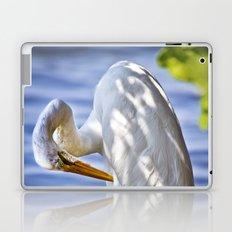 Great Egret Grooming Laptop & iPad Skin