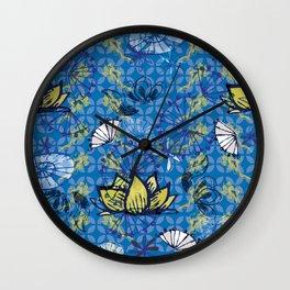 Kabuki_lotus Wall Clock