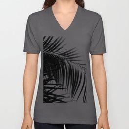 Palm Leaves Black & White Vibes #3 #tropical #decor #art #society6 Unisex V-Ausschnitt