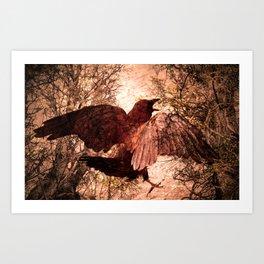 Crow Speach Art Print