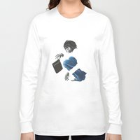 death note Long Sleeve T-shirts featuring Death Note L by Papan Seniman