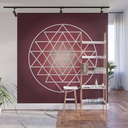 Sacred Geometry Triangle Wall Mural