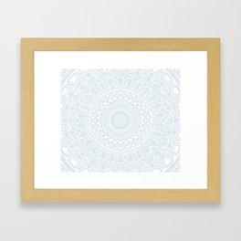 Minimal Minimalistic Light Cool Gray Mandala Framed Art Print