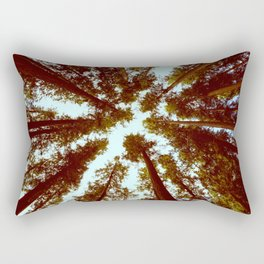 Forest Sky Vintage Trees Rectangular Pillow