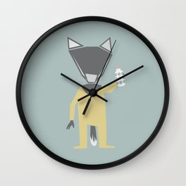 Little Wolf Wall Clock