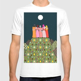 Sisterhood under the full moon T-shirt