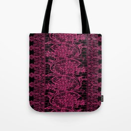 Pink Yarrow Lace Tote Bag