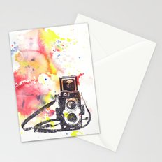 Vintage Rolleiflex Camera Painting Stationery Cards