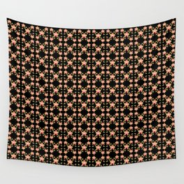 Magenta Peach Phalaenopsis Orchid Pattern Wall Tapestry
