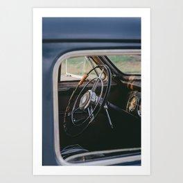 Vintage Steering Wheel Art Print