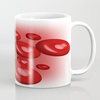 blood Mugs featuring Blood by JDHicks