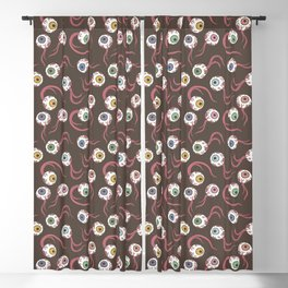 Colored Eye Pattern Blackout Curtain
