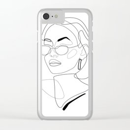 90s Look Clear iPhone Case
