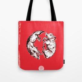 Chasing Wolves Tote Bag