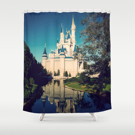 The Disney Castle Shower Curtain By Janice
