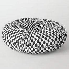black white Floor Pillow
