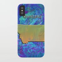 montana iPhone & iPod Cases featuring Montana Map by Roger Wedegis