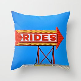 Let's Ride Throw Pillow