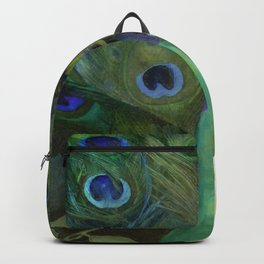 Peacock and Magnolia I Backpack