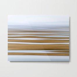 Salt Flats in Fog Metal Print