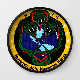 The NRO 3 Vipers Patch Wall Clock