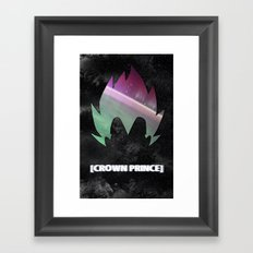 DBZ In Space (Vegeta) Framed Art Print