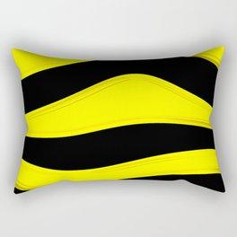 Hot Wavy B Rectangular Pillow