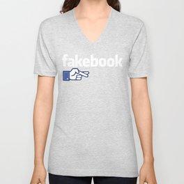 Fakebook Unisex V-Neck