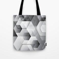 Black geometrics Tote Bag