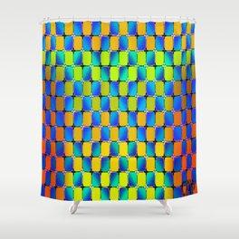 Glide Optical Illusion Shower Curtain