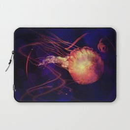 Jellyfish of the Blacklight Electro Rave Laptop Sleeve
